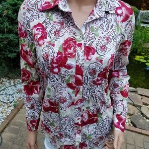CHARTER CLUB  WOMEN'S   BLOUSE SHIRT TOP  SIZE  8